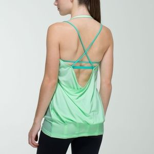 Lululemon Flow & Go Tank top green teal blue 6